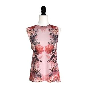 SWS Collection Rose Floral Pink Muscle Tank M